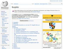 WikiPedia: Kurpfalz