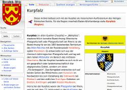 Die Kurpfalz im Heralik-Wiki