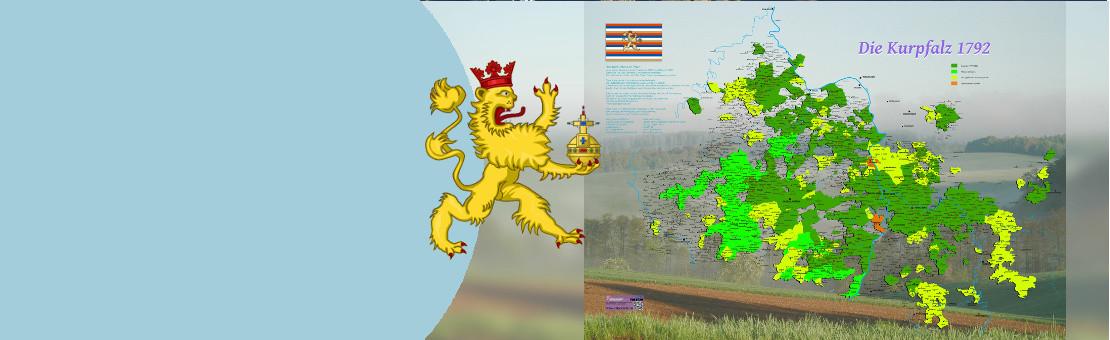 Überarbeitete Version der besten Karte der Kurpfalz